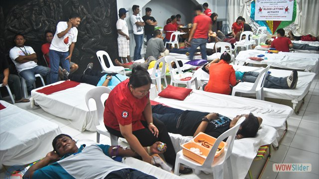 Bloodletting Activity in coordination with Philippine Red Cross